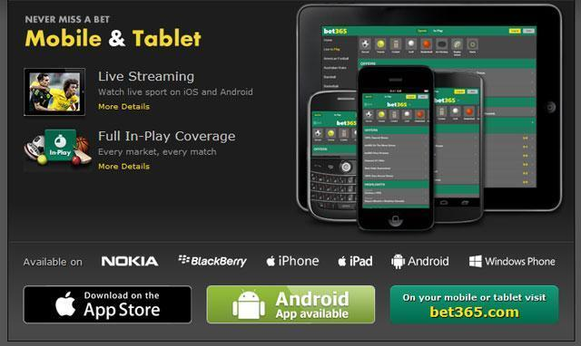 Bet365 mobile Android ios